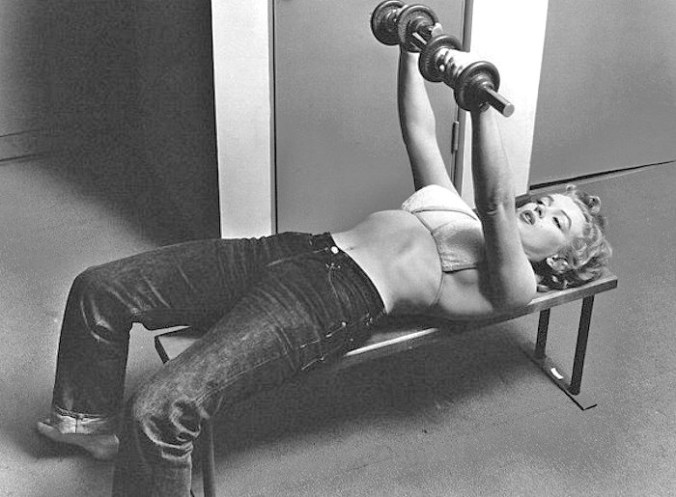 marilyn-monroe-diet-exercise-weight-training